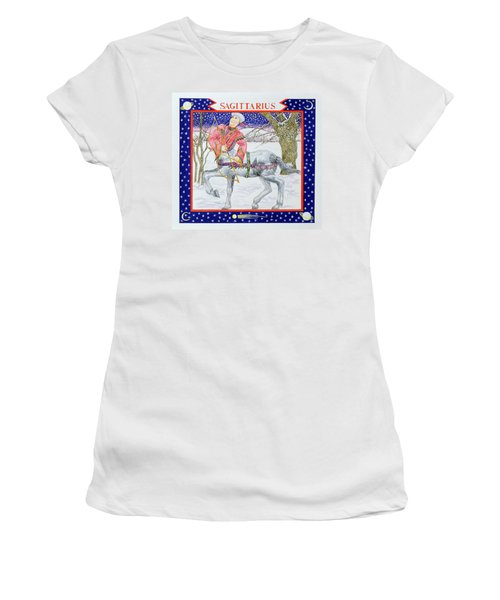 Sagittarius Wc On Paper Women's T-Shirt (Athletic Fit)