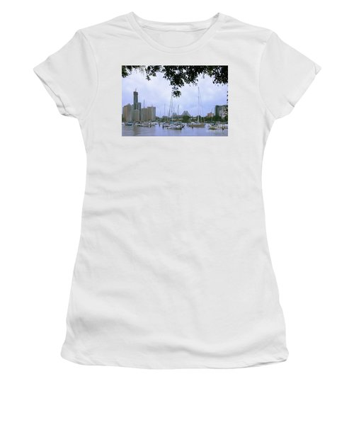 Sailboats In Brisbane Australia Women's T-Shirt