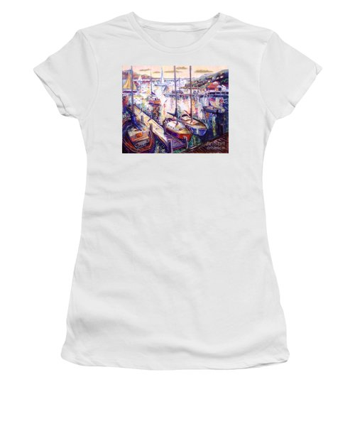 Sailboats Women's T-Shirt (Athletic Fit)