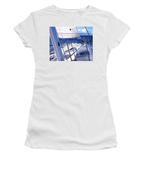 Sailing Hawaii Women's T-Shirt (Junior Cut) by Joseph J Stevens
