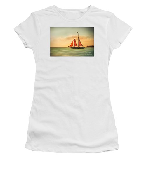 Sailing Into The Sun Women's T-Shirt (Athletic Fit)