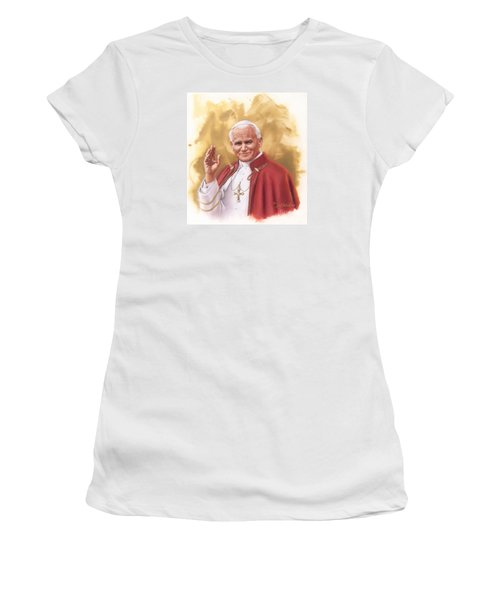 Saint Pope John Paul II Women's T-Shirt (Athletic Fit)