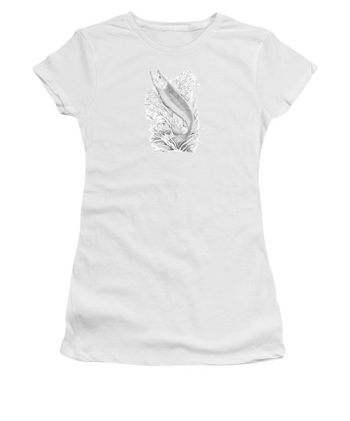 Salmon Women's T-Shirt (Junior Cut) by Lawrence Tripoli