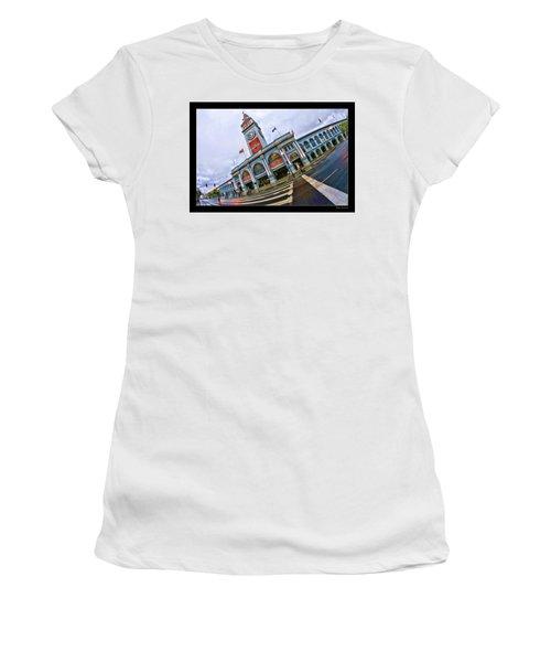 San Francisco Ferry Building Giants Decorations. Women's T-Shirt
