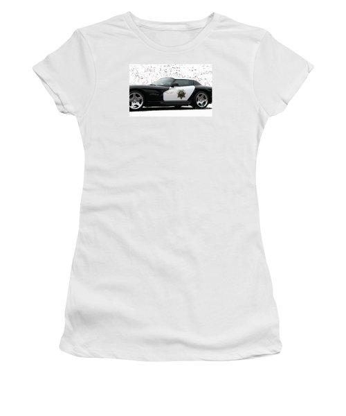 San Luis Obispo County Sheriff Viper Patrol Car Women's T-Shirt (Junior Cut)