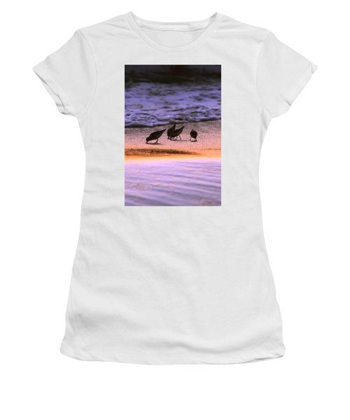 Sandpiper Morning Women's T-Shirt (Athletic Fit)