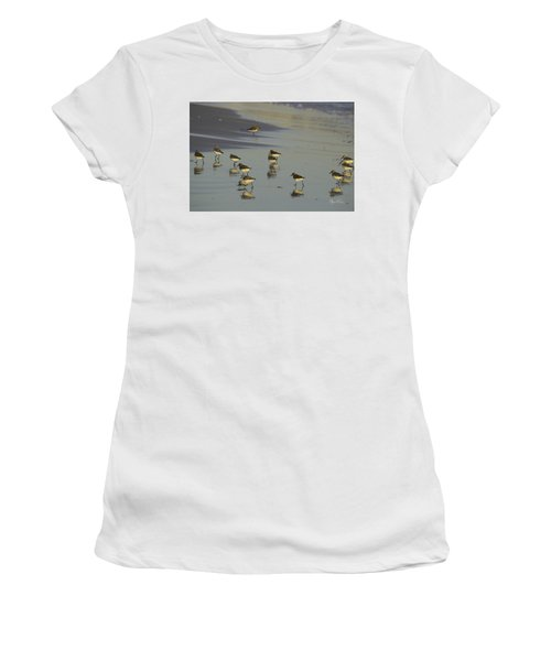Sandpiper Sunset Reflection Women's T-Shirt (Athletic Fit)