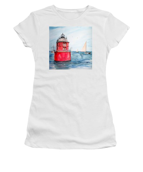 Sandy Point Lighthouse 2 Women's T-Shirt (Athletic Fit)