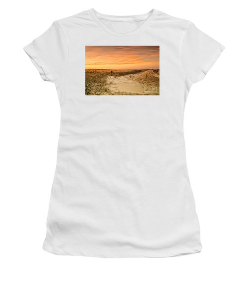 Sandy Road Leading To The Beach Women's T-Shirt (Athletic Fit)