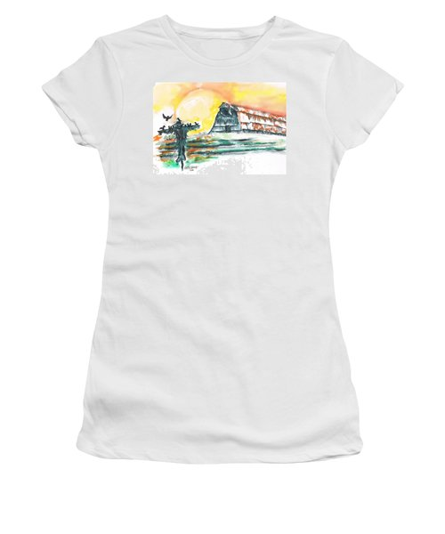 Scarecrow Welcomes The Morning Women's T-Shirt (Athletic Fit)