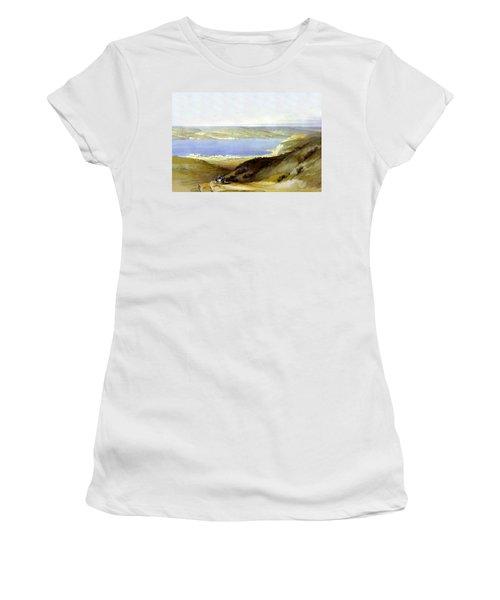 Sea Of Galilee Women's T-Shirt (Junior Cut) by Munir Alawi