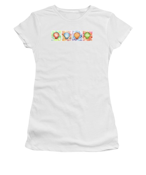Sea Shells In Contrast Women's T-Shirt