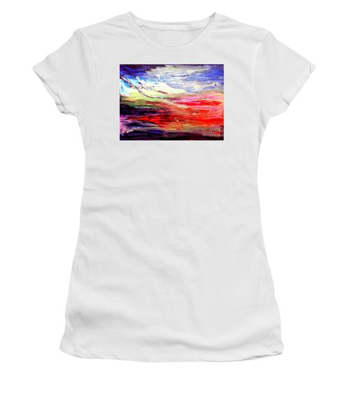 Sea Sky I Women's T-Shirt (Athletic Fit)