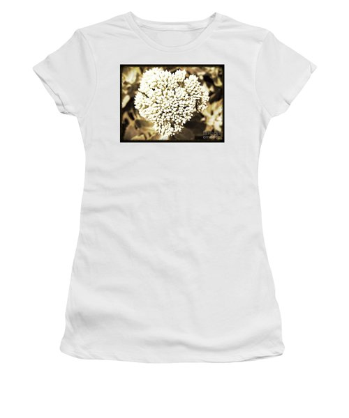 Women's T-Shirt (Junior Cut) featuring the painting Sedum In The Heart by Kimberlee Baxter