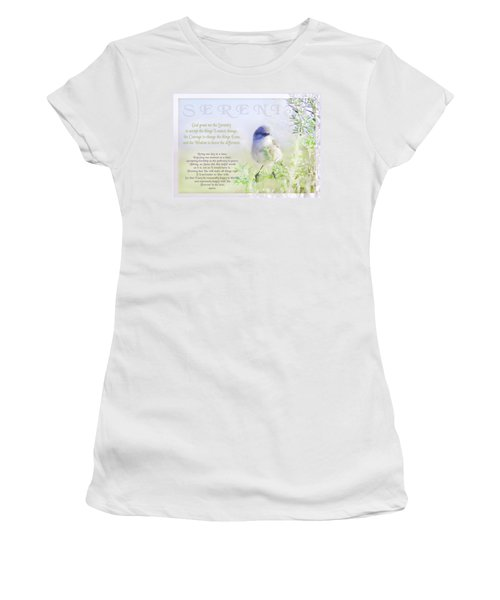Serenity Prayer Women's T-Shirt (Junior Cut) by Holly Kempe