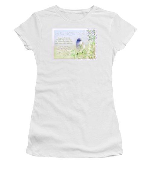 Serenity Prayer Women's T-Shirt (Athletic Fit)