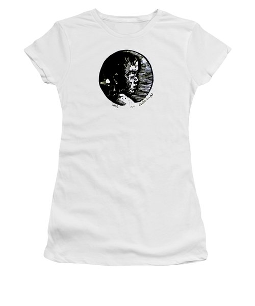 Women's T-Shirt (Junior Cut) featuring the relief Seth 2 by Seth Weaver