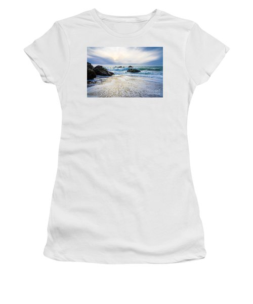 Setting Sun And Rising Tide Women's T-Shirt (Athletic Fit)