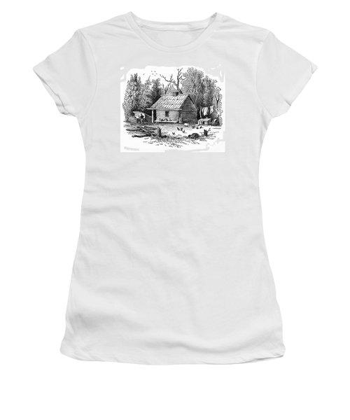Settler's Log Cabin - 1878 Women's T-Shirt