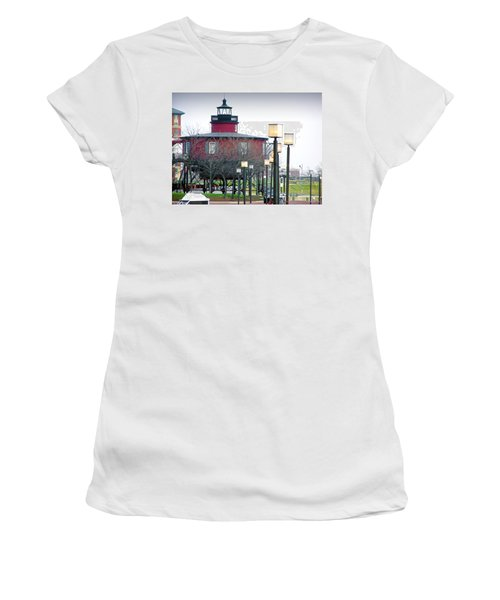 Women's T-Shirt (Junior Cut) featuring the photograph Seven Foot Knoll Lighthouse by Brian Wallace
