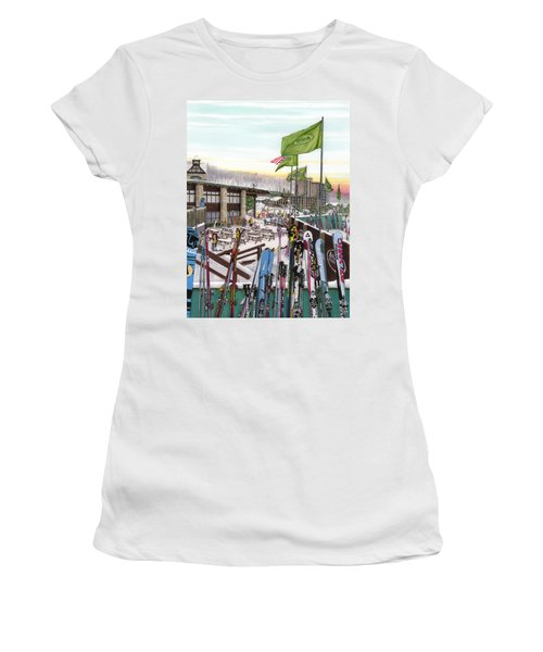 Seven Springs Mountain Resort Women's T-Shirt (Junior Cut) by Albert Puskaric