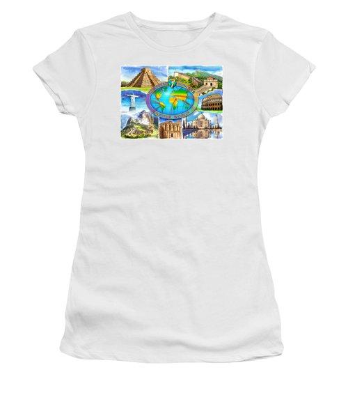Seven Wonders Of The World Women's T-Shirt