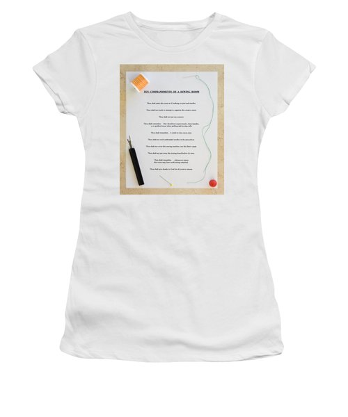 Sewing Room Sign Women's T-Shirt (Athletic Fit)