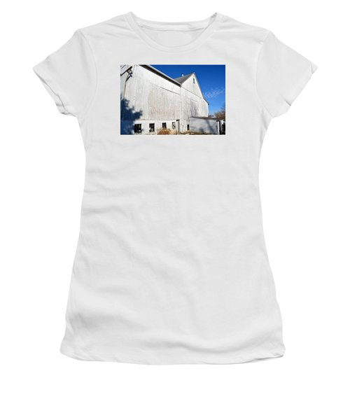 Shadow On White Barn Women's T-Shirt (Athletic Fit)