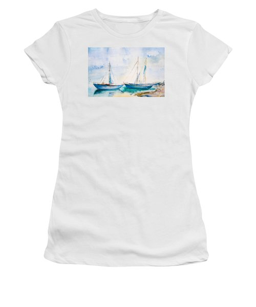 Ships In The Sea Women's T-Shirt (Athletic Fit)