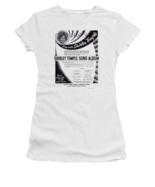 Shirley Temple Song Album Women's T-Shirt (Junior Cut) by Mel Thompson
