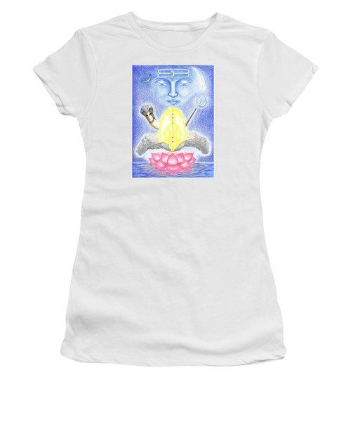 Women's T-Shirt (Junior Cut) featuring the drawing Shiva by Keiko Katsuta