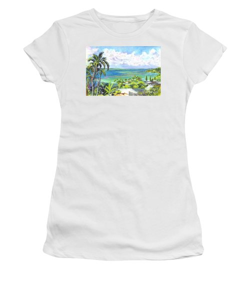 Shores Of Oahu Women's T-Shirt (Athletic Fit)