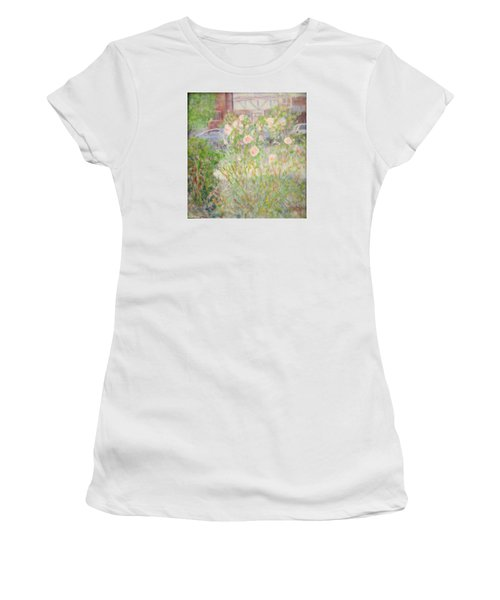 Sidewalk Flowers In Chicago Women's T-Shirt (Athletic Fit)