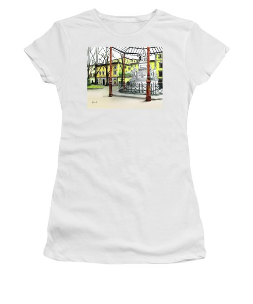 Silla Hotel Piazza Demidoff Florence Women's T-Shirt (Athletic Fit)