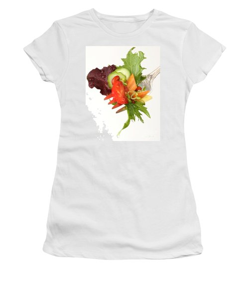 Silver Salad Fork Women's T-Shirt (Athletic Fit)