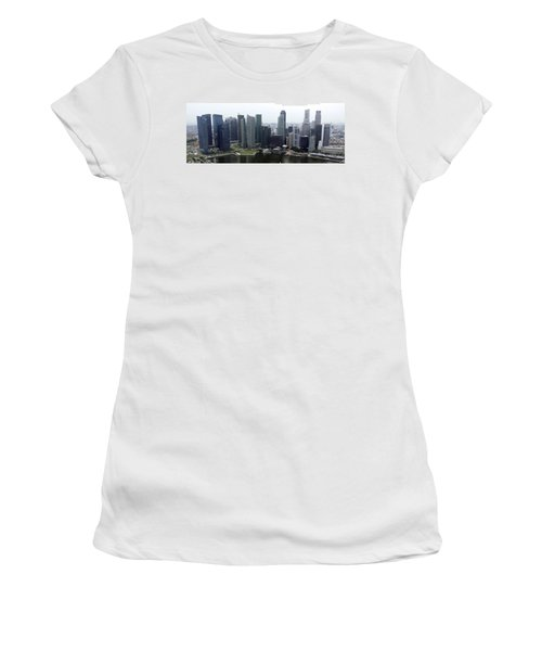 Women's T-Shirt (Junior Cut) featuring the photograph Singapore Skyline by Shoal Hollingsworth