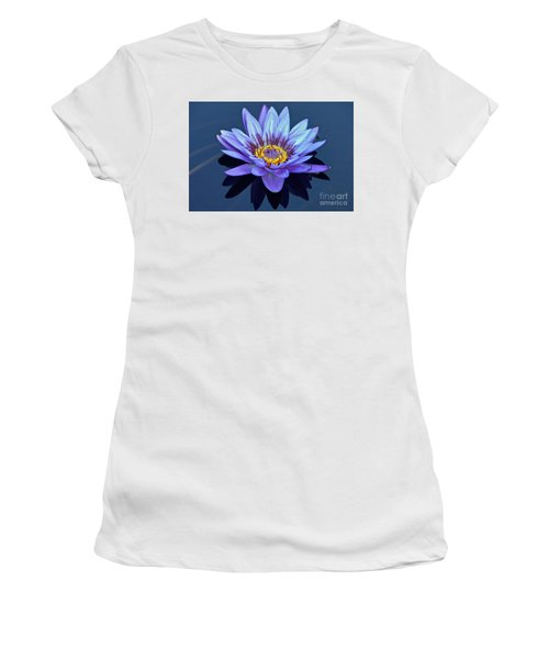 Single Lavender Water Lily Women's T-Shirt (Junior Cut) by Byron Varvarigos