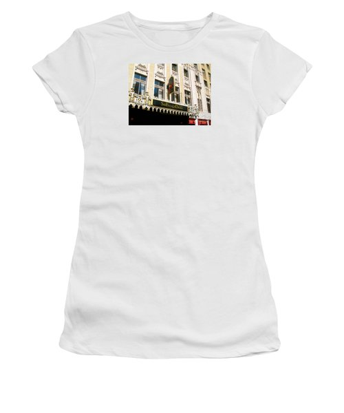 Sir Francis Drake Hotel Women's T-Shirt (Junior Cut) by Connie Fox