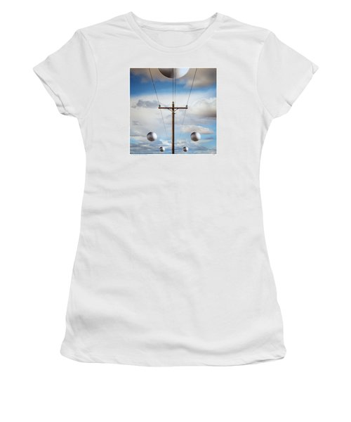 Sir I Suggest You Call The Phone Company Women's T-Shirt (Junior Cut) by Gary Warnimont