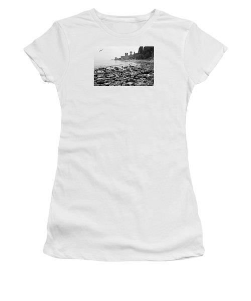 Women's T-Shirt (Junior Cut) featuring the photograph Sirmione Castle by Simona Ghidini