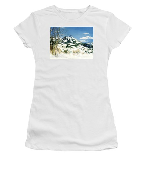 Skiers Paradise Women's T-Shirt (Athletic Fit)