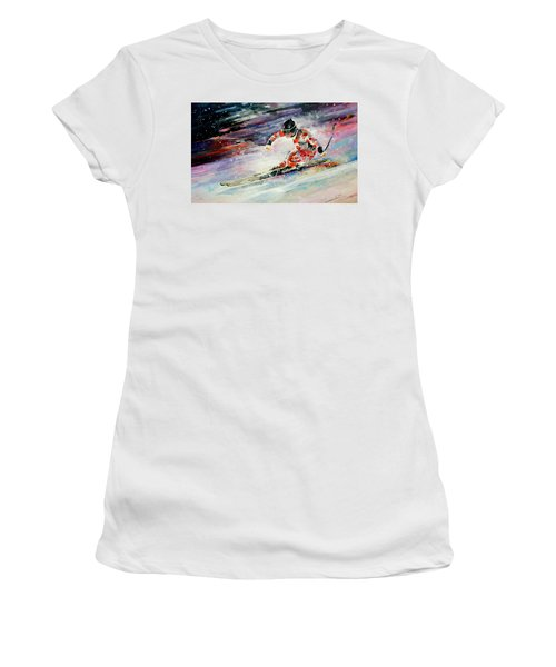 Skiing 01 Women's T-Shirt (Athletic Fit)
