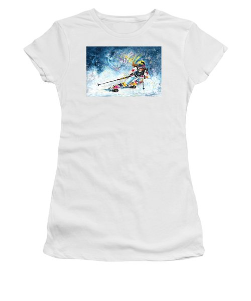 Skiing 03 Women's T-Shirt
