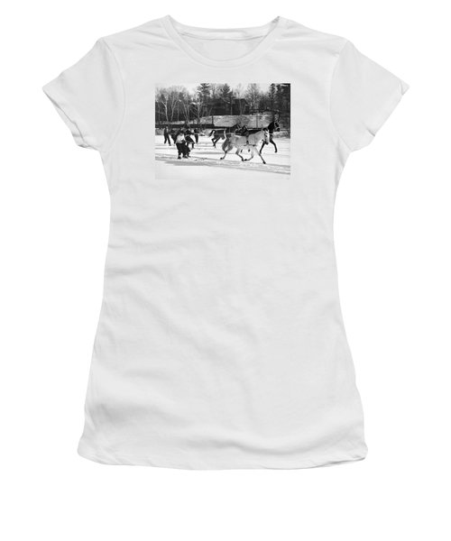 Skijoring At Lake Placid Women's T-Shirt