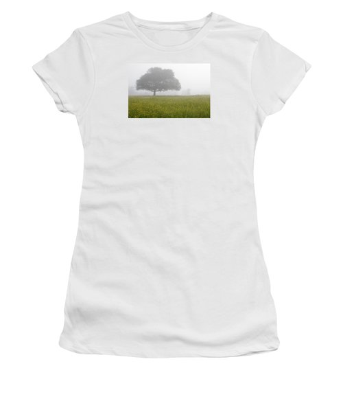 Women's T-Shirt (Junior Cut) featuring the photograph Skc 0056 Tree In Fog by Sunil Kapadia