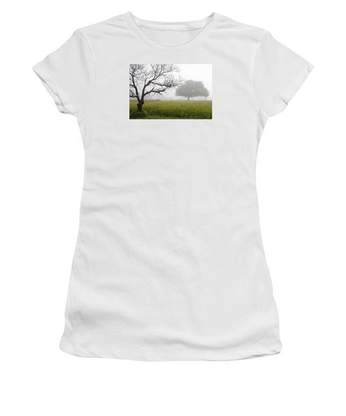 Women's T-Shirt (Junior Cut) featuring the photograph Skc 0058 Contrasty Trees by Sunil Kapadia