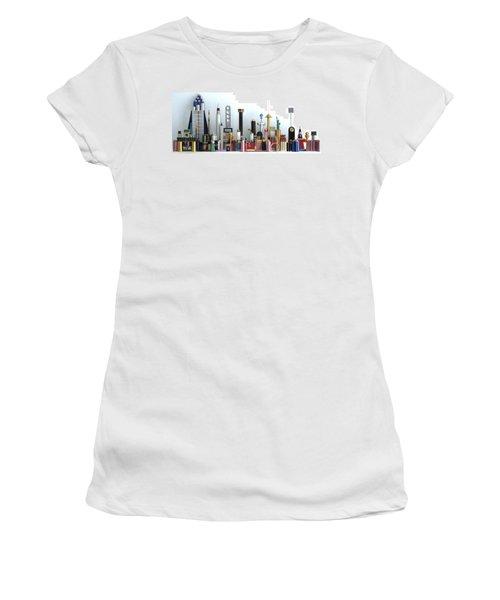 Skyline Sculpture Women's T-Shirt (Junior Cut) by Ron Davidson