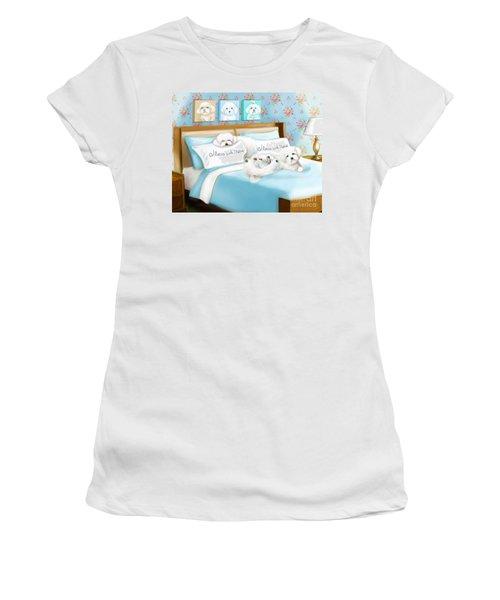 Sleeps With Maltese Women's T-Shirt