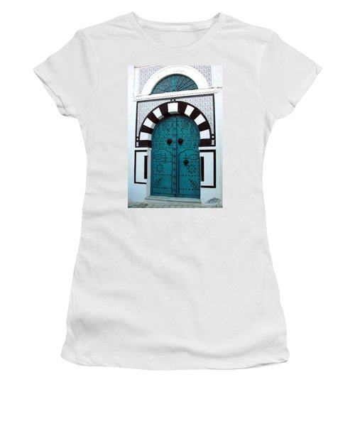 Smiling Moon Door Women's T-Shirt (Athletic Fit)