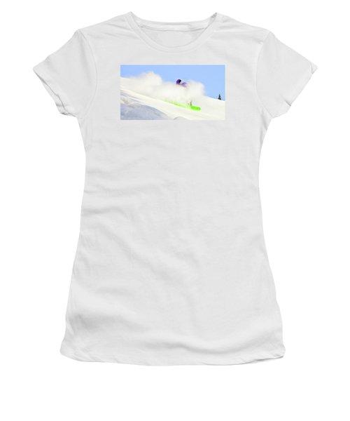 Snow Spray Women's T-Shirt (Athletic Fit)